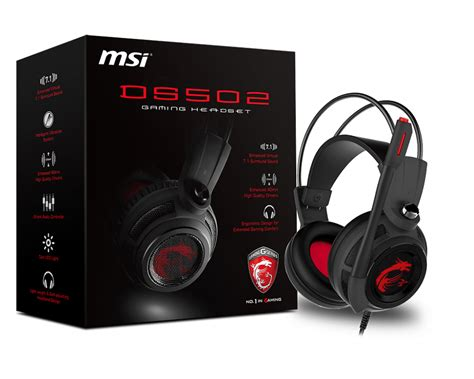 Msi Ds502 Gaming Headset ds502 gaming headset msi usa