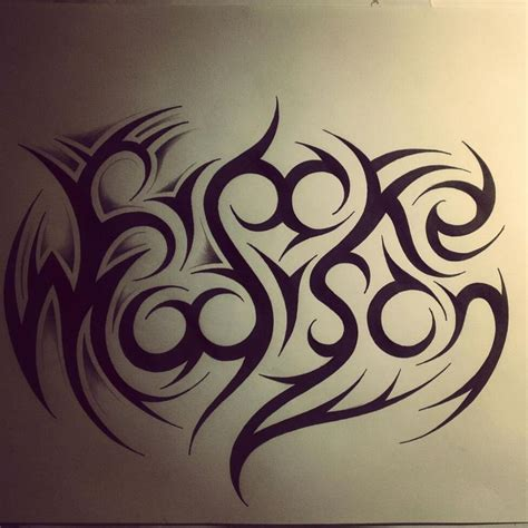 tribal tattoos with names in them name tribal by dirtfinger deviantart on