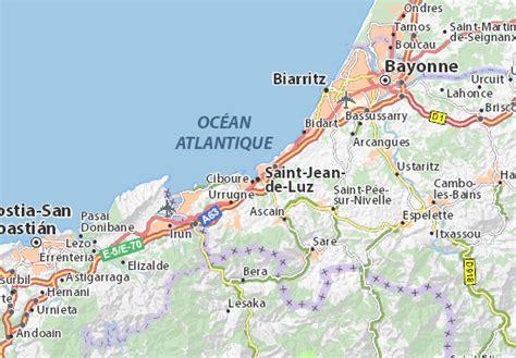 Carte détaillée Saint Jean de Luz plan Saint Jean de Luz ViaMichelin