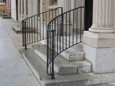 custom built wrought iron steel railings handrails metal