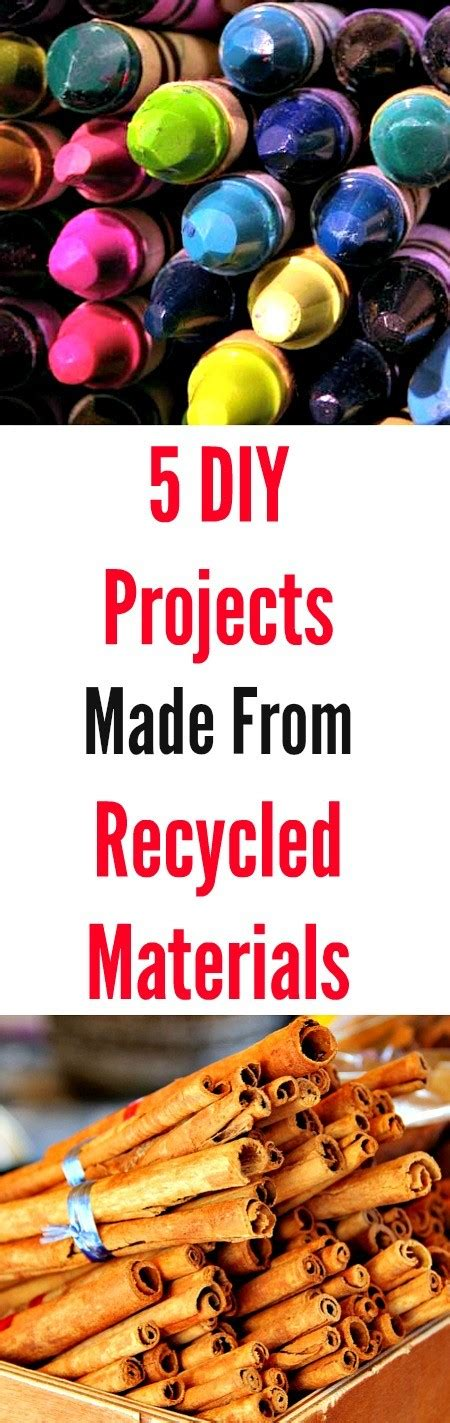 5 Midweek Diy Projects by 5 Diy Projects Made From Recycled Materials