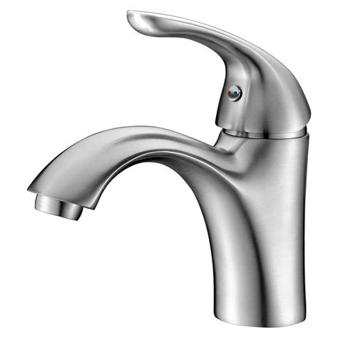 anzzi clavier series single hole single handle mid arc bathroom faucet  brushed nickel