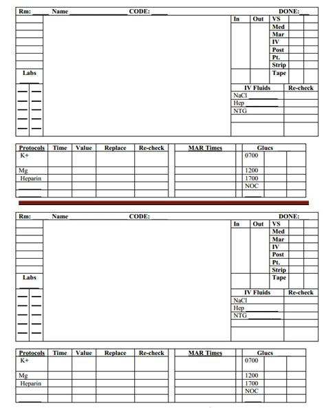 Labor And Delivery Report Template Brain Sheets Hour Day And Rotation