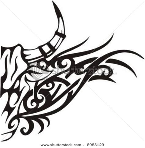 ox tribal tattoo tribal bull ideas ox