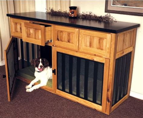 sofa table dog crate custom cabinet with 2 dog crates diy crafts more fun