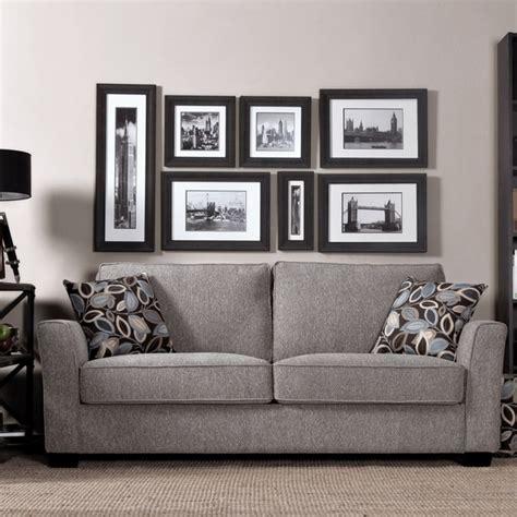 broyhill floral sofa portfolio tara sandy gray chenille sofa with brown modern