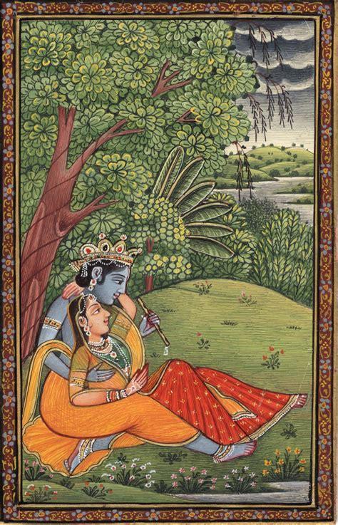 Handmade Paintings Of Radha Krishna - krishna radha painting handmade hindu religious god