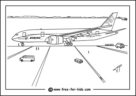 787 Coloring Page by Free Coloring Pages Of Airport