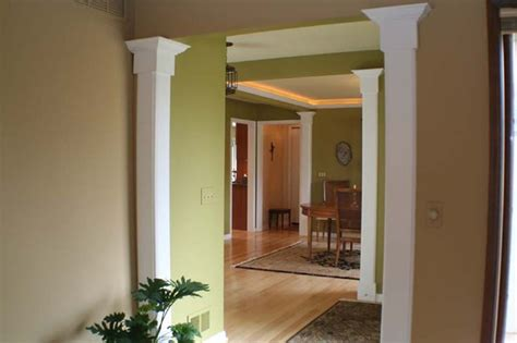 open dining area defined by columns traditional dining