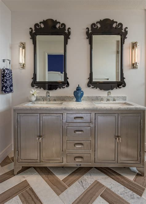 bathroom vanity decorating ideas magnificent silver vanity mirror decorating ideas images in bathroom transitional design ideas