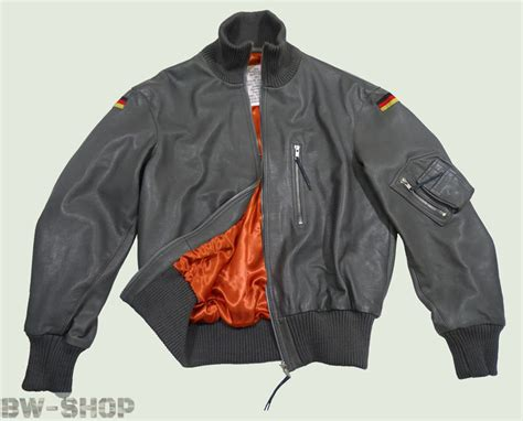 Jacket Bomber Bw bomber flight jacket bundeswehr bw leather luftwaffe air grey jacket ebay