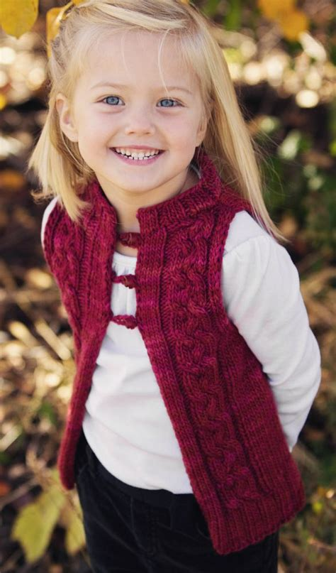 knitting pattern vest child vests for babies and children knitting patterns in the