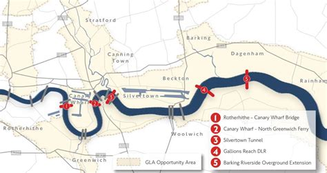 thames river crossing green light for three east london river crossings