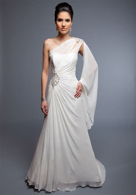 One Shoulder Gown   Dressed Up Girl