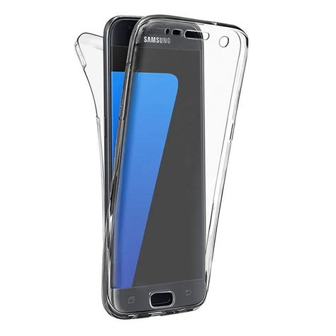 Promo Ipaky 360 Samsung J7 Plus J7 Cover Hardcase coque int 233 grale transparente 360 176 ultra slim en silicone