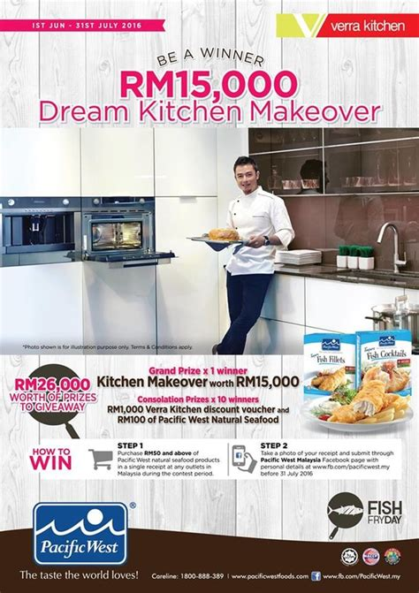 how to win a free kitchen makeover pacific west win a kitchen makeover contest