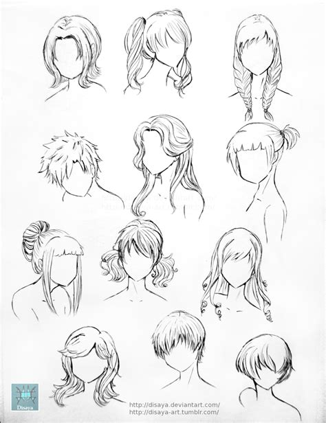 manga hairstyle short long front sides hair reference 1 by disaya on deviantart
