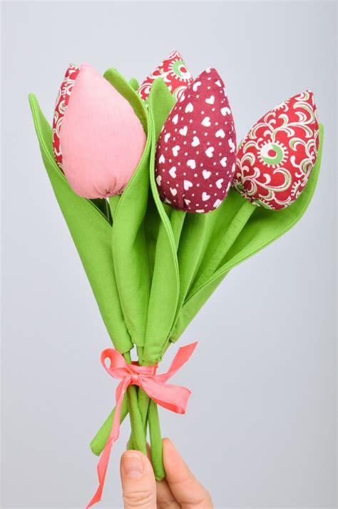 Deko Mit Tulpen by Madeheart Gt Handgemachte Deko Tulpen Aus Stoff 5 St 252 Ck