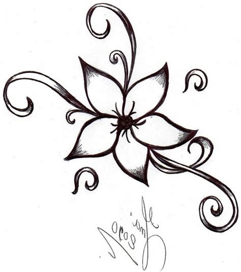 drawn floral design drawing pencil and in color drawn