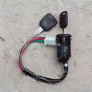 aliexpress buy motorcycle 4 wire ignition key switch with 2 for yamaha suzuki honda