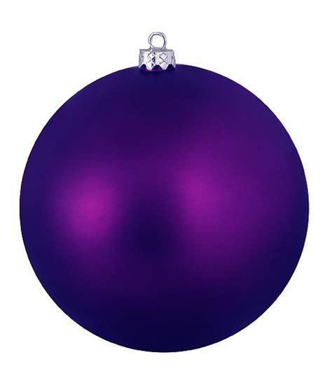 12ct matte purple passion shatterproof christmas ball