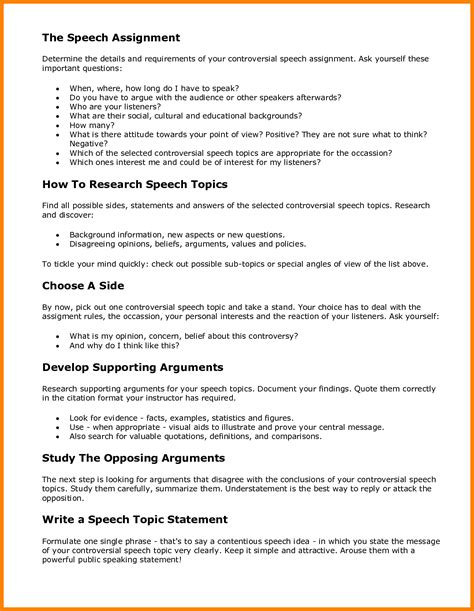 Factual Speech Outline by 9 Persuasive Essay Speech Topics Address Exle
