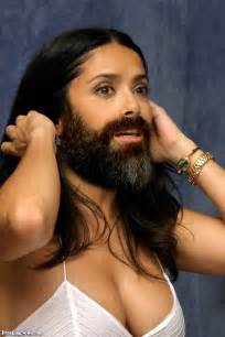 heavy hair on vigina salma hayek bearded lady pictures