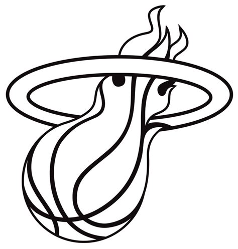 miami heat symbol pictures az coloring pages