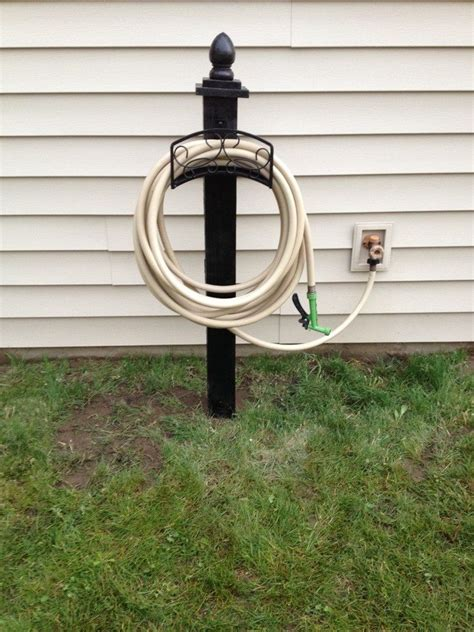 Garden Hose Storage Ideas Build A Garden Hose Storage With Planter Diy Projects For Everyone