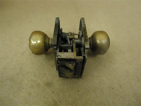 sargent keyed door knob set brass moritse lock lb751 vintage