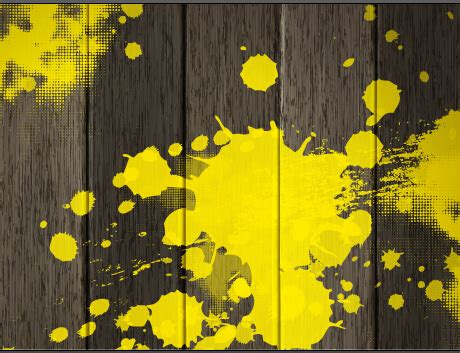 vintage wooden board with yellow paint background welovesolo