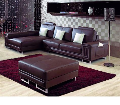 Modern Leather Sectional Sofa Dreamfurniture 2265 Modern Bonded Leather Sectional Sofa