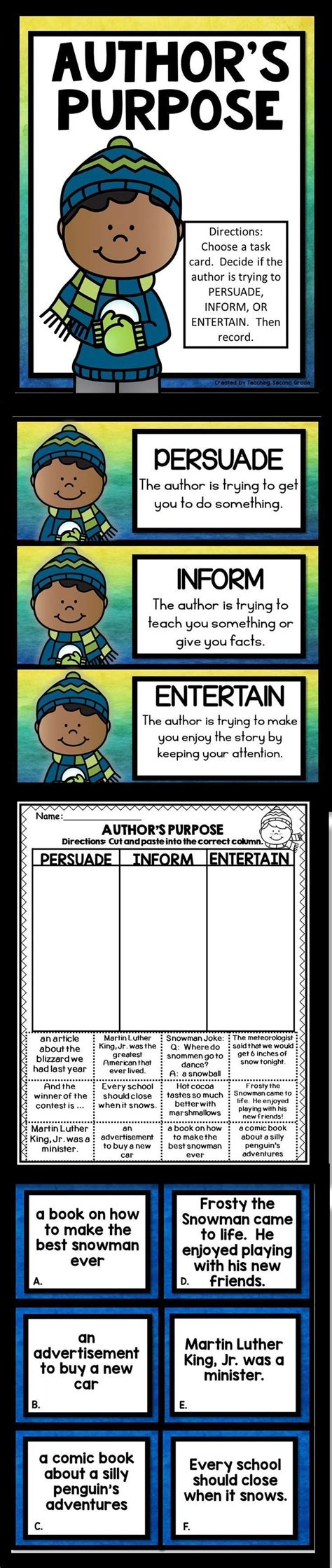 1000 ideas about author s purpose worksheet on
