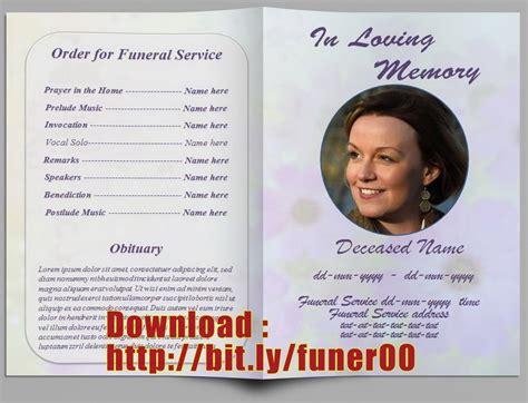 funeral program template free add customization service we