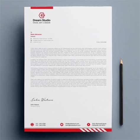 modern company letterhead letterhead design inspiration