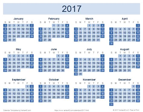2017 Calendar Templates And Images Picture Calendar Template 2017
