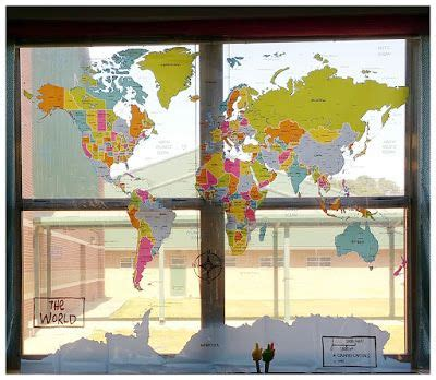 multipurpose classroom shower curtain map turned