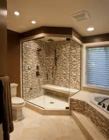 Bathroom Glass Tile Ideas Ceramic Amp Glass Tile Shower Contemporary Bathroom