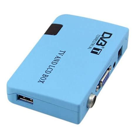 Tv Tuner Eksternal Tipe Box vga dvb t tv box stick external tv tuner pc box receiver tuner hd 1080p speaker tv box with
