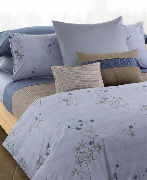 calvin klein coverlet calvin klein home bamboo flowers corded blocks queen