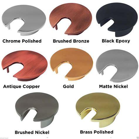 metal desk grommets 1 5 quot 2 quot 2 5 quot sizes color