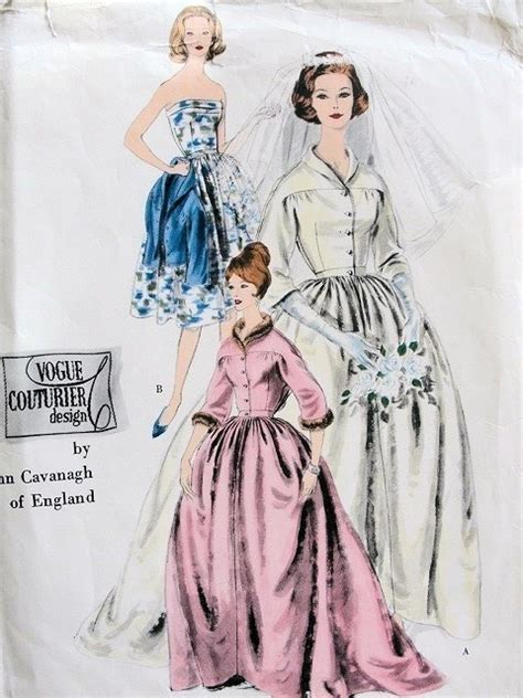 wedding dress pattern design vintage 1960 john cavanagh designer bridal gown wedding