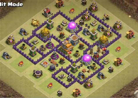 coc christmas layout top 50 best th7 war base farming hybrid trophy