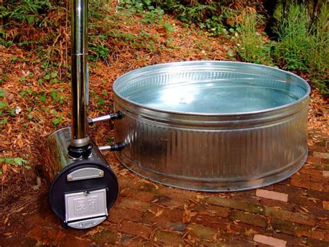 heated jacuzzi bathtub chofu wood fired hot tub heater stove only real goods