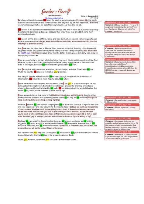 Obamas Victory Speech Essay by Speech Analysis Of President Obama S Presidential Victory