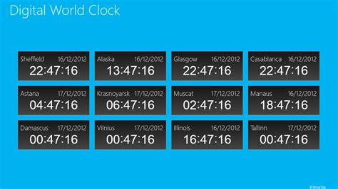 Free Live Tile Clock Wallpaper For Desktop by Digital World Clock Free Windows Phone App Market