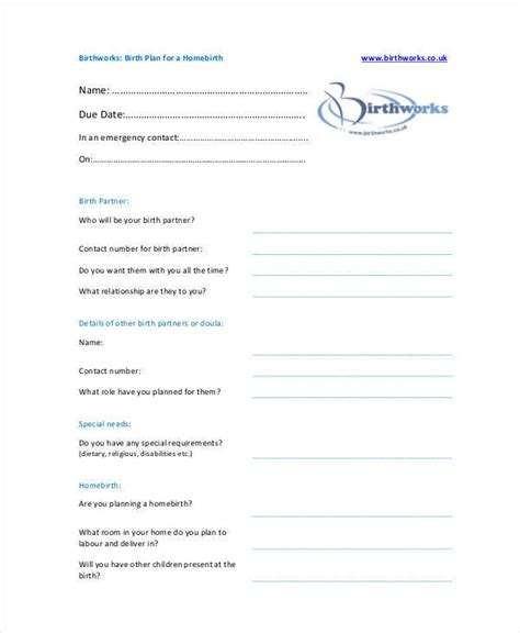 scheduled c section birth plan template birth plan c section exle templates resume exles