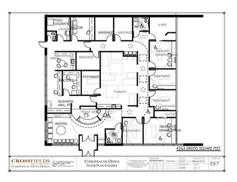 general physical layout of work space chiropractic office floor plan multi doctor office