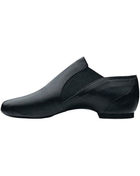 bloch s0499l elasta bootie slip on leather jazz shoes