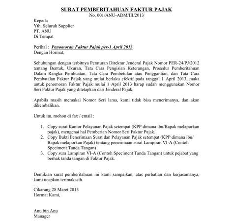 format contoh surat pemberitahuan resmi yang baik wisata dan info sumbar